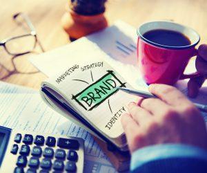 Digital Online Marketing Brand Office Working Concept